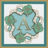 Letter A Cross Stitch Pattern