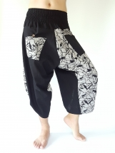 SR0036 Samurai Pants Harem pants have fisherman pants style wrap around waist