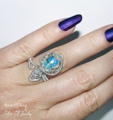 Moon Elf ring, adjustable ring, wedding jewelry, statement ring