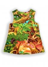 Dinosaur Sunrise Baby Pocket Pinafore Dress