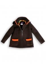Double-faced Loden Outdoor Jacket brown-orange unisex