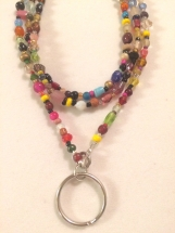 "33"" Colorful FUN Beaded Lanyard"
