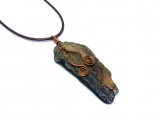 Natural Driftwood Pendant Necklace Wire Wrapped In Copper Wire