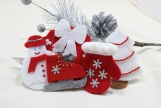 Red, White and Silver Christmas Tree Ornaments