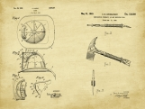Firefighter Patent Art Duo-U.S. Shipping Included