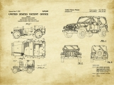 Jeep Patent Art Duo-U.S. Shipping Included