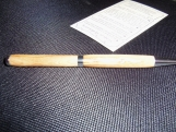 Olive Wood Pen - Silver