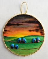 Painted Rocks - 6 Little Blue Birds
