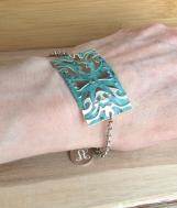 Sterling Silver Embossed Bracelet, Sterling Silver Plate Bracele