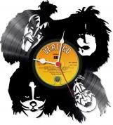 Kiss 2  Loop-store handmade vintage vinyl clock  - clone