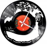 Kiss a rose Loop-store handmade vintage vinyl clock