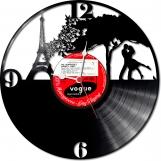 Romantic paris Loop-store handmade vintage vinyl clock