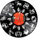 Zodiac Loop-store handmade vintage vinyl clock