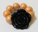 Child's Black and Copper Flower Bracelet