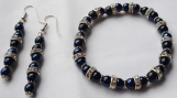 Dark Blue and Crystal Jewelry Set