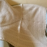 Handmade blanket -tan