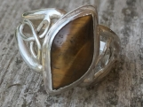 Celtic Ring with Tiger-eye