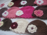 Adult Flapper Hat with a Double Layer Flower - You pick colours
