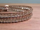 Mist Wrap Bracelet, Glass Beads, Bead Weaving, Hand Beaded, Vegan, Stacking Bracelets, Birthday Gift, Neutral, Double Wrap, Handmade