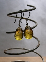 Sundrop Earrings, Yellow, Gold, Dangle Earrings, Drop Earrings, Hand Forged, Handmade, Sunshine, Gifts for Her, Summer Jewelry, Birthday