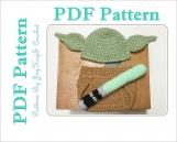 Yoda Pattern Crochet Costume Baby Diaper Set Outfit