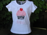 Personalized Birthday Cupcake shirt - Custom Made Sizes 3 mos-Youth 12