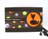 Paper Quilled Cat Halloween Card