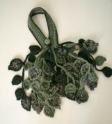 PDF pattern Crochet leaf scarflette or necklace No 1