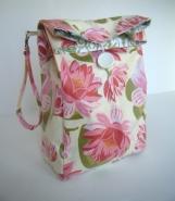 Lotus Reusable Reversible Lunch Bag Laminated Cotton