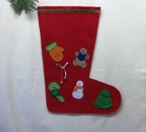 Hand Decorated Christmas Stocking