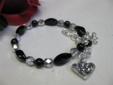 Pearl and Celtic Knot Heart Charm Bracelet