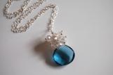 London blue quartz and moonstone necklace