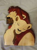 Lion King Wooden Wall Hanging