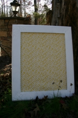 """White Vintage Style Frame with decorative Cork Board 22""""x26"""""""