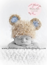 Knit Baby Bear Beanie Hat for NEWBORN Infant Photography