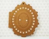 Locket Card - Brandy Metallic with Faux Pearls