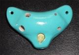Blue English Ocarina Pendant ~ Soprano F Vessel Flute