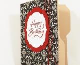 Birthday Gift Card Holder File Folder Card - Red