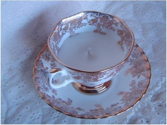 Tea Cup Candle Vintage Royal Albert Pure Vegetable Soy Candle