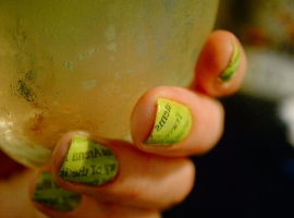 Newspaper nails DIY tutorial; how-to
