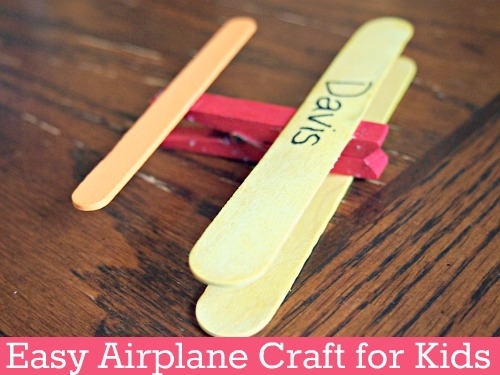easy airplane craft for kids blog