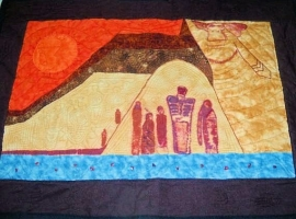 Great Wall Anasazi Hand Quilted Wall Hanging Southwestern.