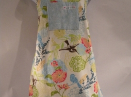 handmade  humming bird apron