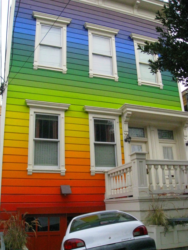 Rainbow house in SF.