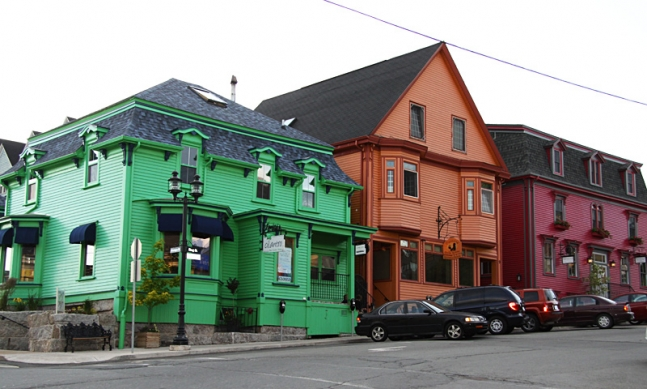 Brightly-colored houses of Lunenburg.